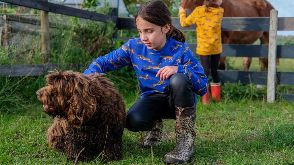 Spelen met de dieren bij BoerenBed TaarTenTuin